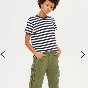 Topshop Petite What If Striped Tee